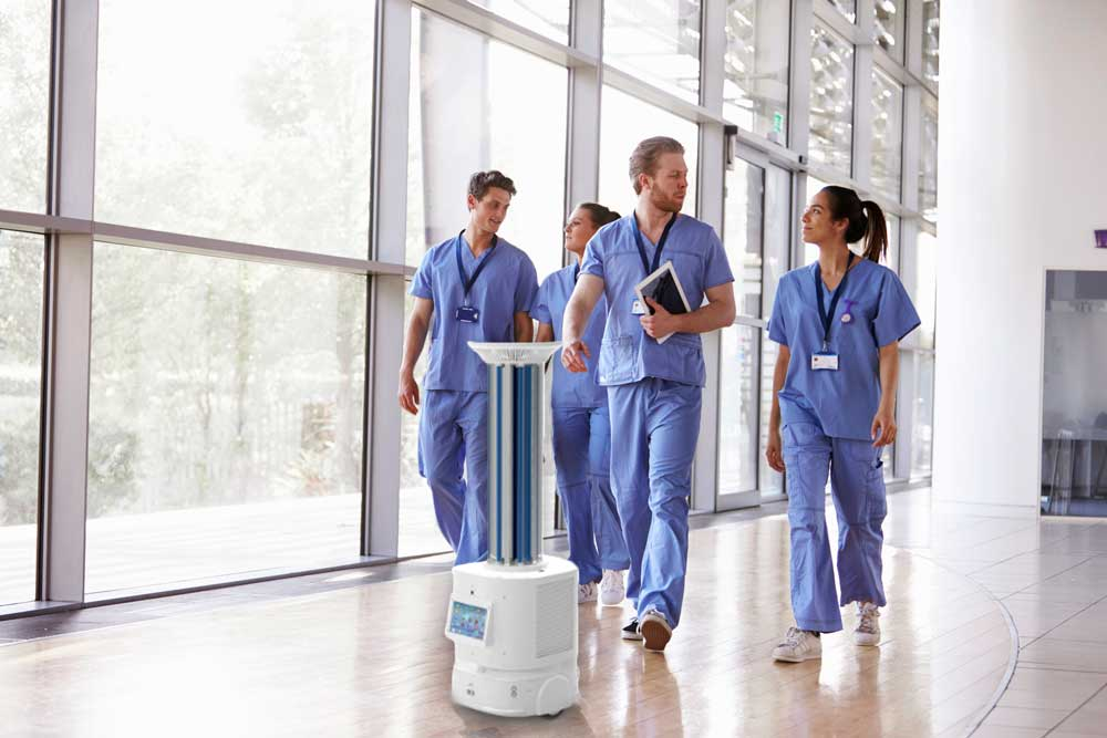 The benefits Of Autonomous Robot UVC disinfection In Hospitals.